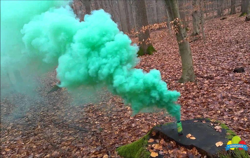 Купить цветной дым Smoke Fountain зеленый в Новосибирске